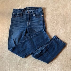 7 Seven for all mankind crop skinny jean sz 24 EUC